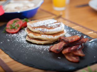 Home-Smoked Bacon with Pancakes