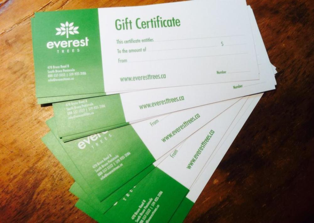 Gift certificates are a great for weddings, birthdays or celebrations of any type