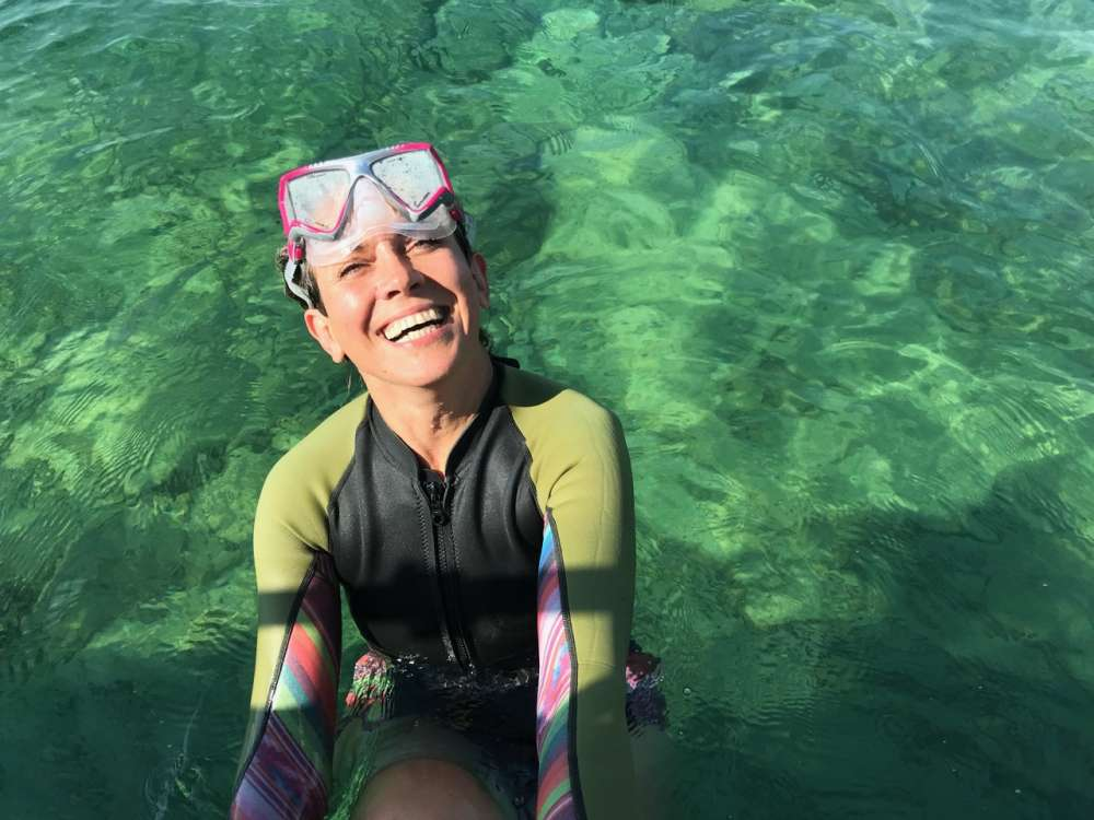 Snorkelling in Lake Huron