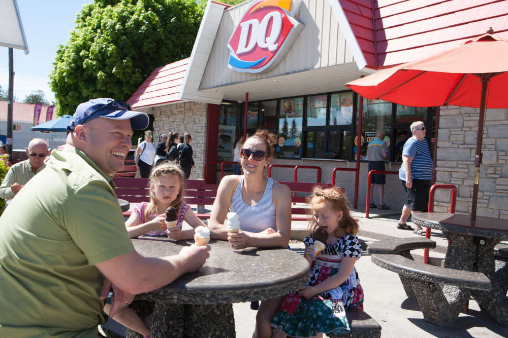 Enjoying Family Time at DQ!