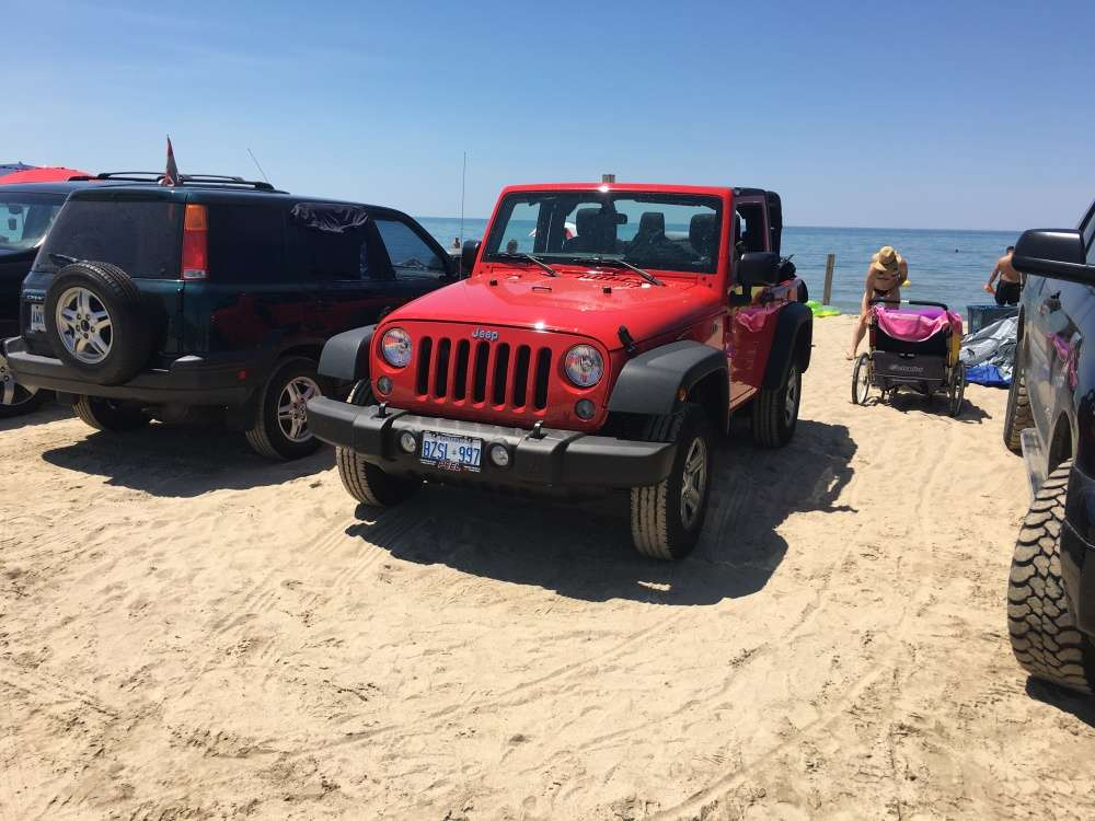 Parking right on the beach